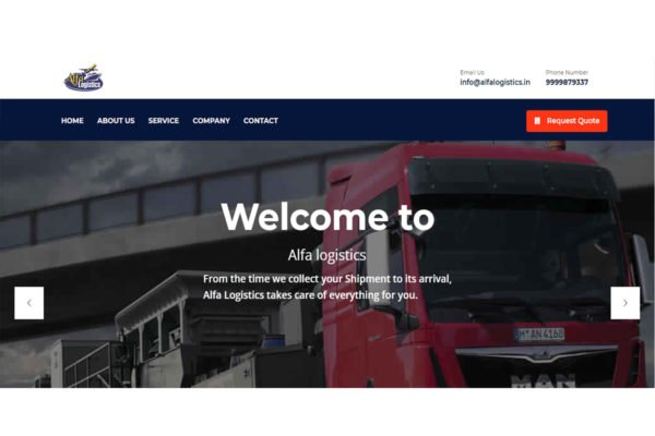Alfa Logistics | Packers and Movers Website Designing