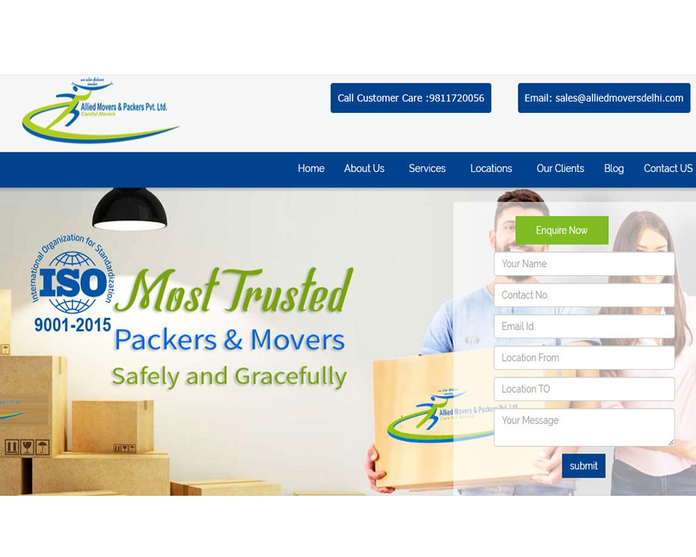 ALLIED MOVERS & PACKERS | Packers and Movers Website Designing