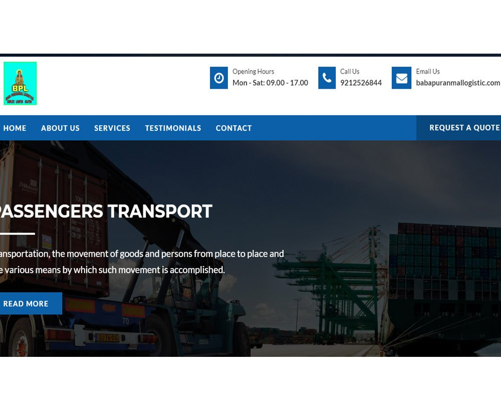 babapuranmallogistics  | Packers and Movers Website Designing