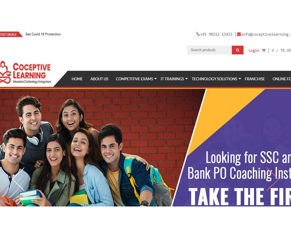 Coceptivelearning   Education Website Designing
