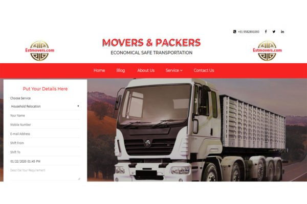 estmovers | Packer Mover Web Designing