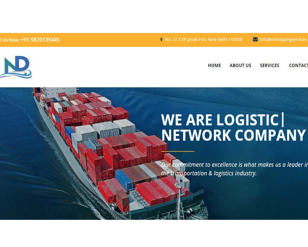 ND Shipping  | Packers and Movers Website Designing