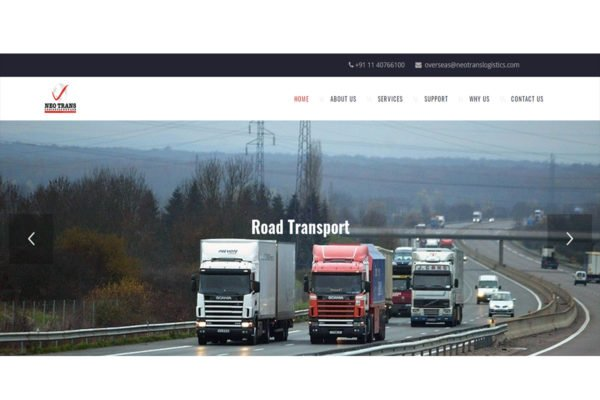 NeoTrans | Packers and Movers Website Designing