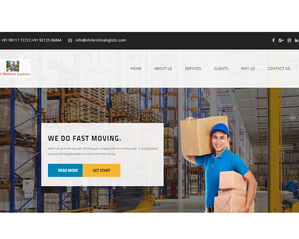 Shri Krishna Logistics | Packers and Movers Website Designing