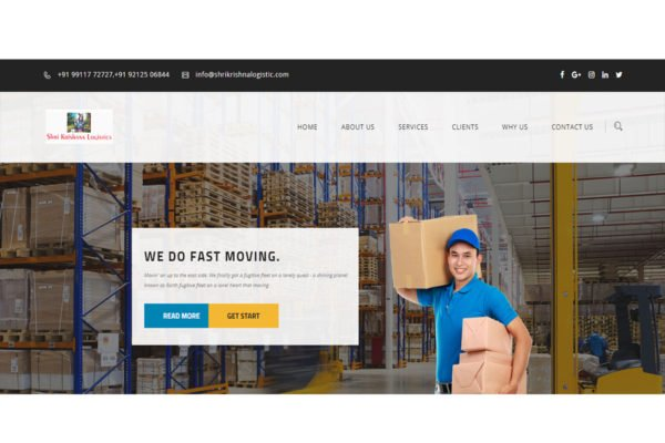 Shri Krishna Logistics | Packers and Movers Website Designing