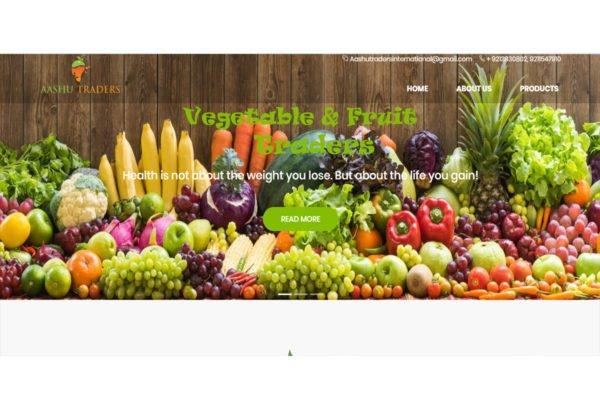Aashu Traders   Vegetables Website Designing