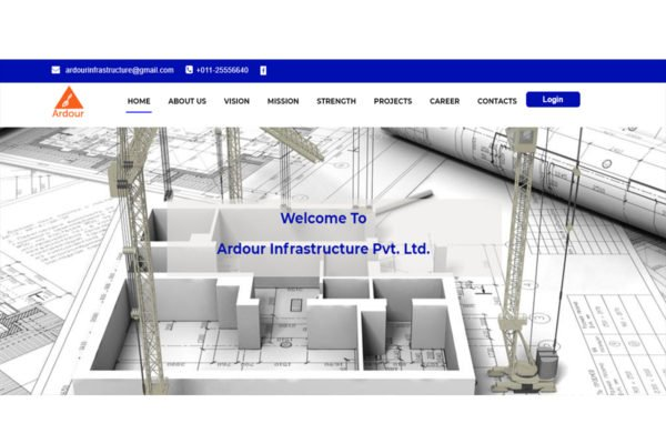 Ardourinfra(Construction Company Website Design)