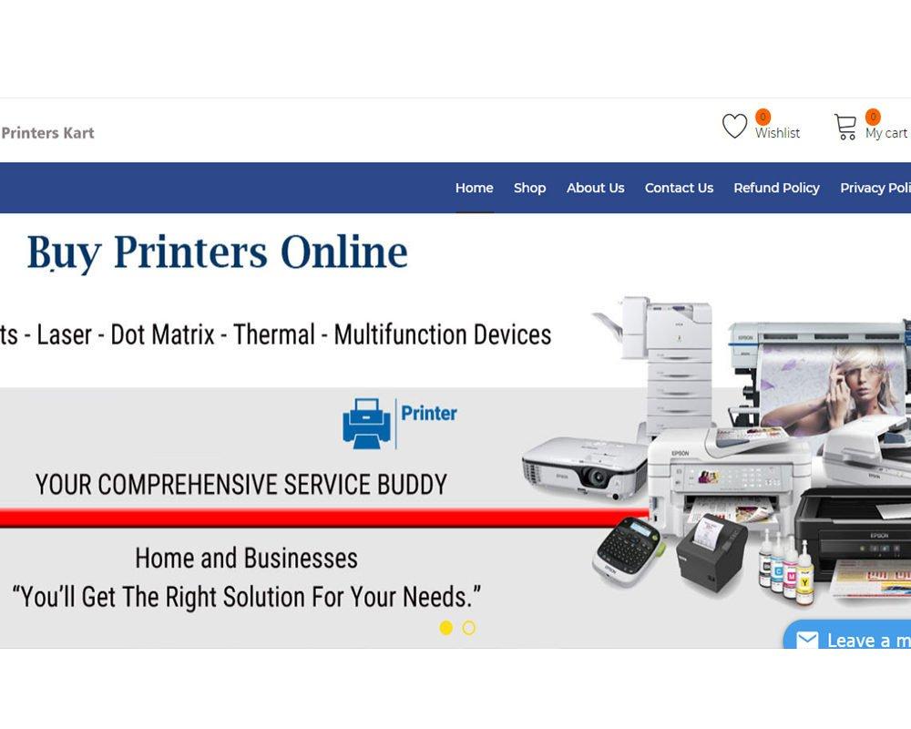 Printers kart | ECOMMERCE Website Designing