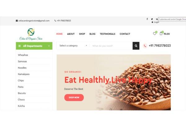 Celiac & Organic Store  | Ecommerce Website Designing