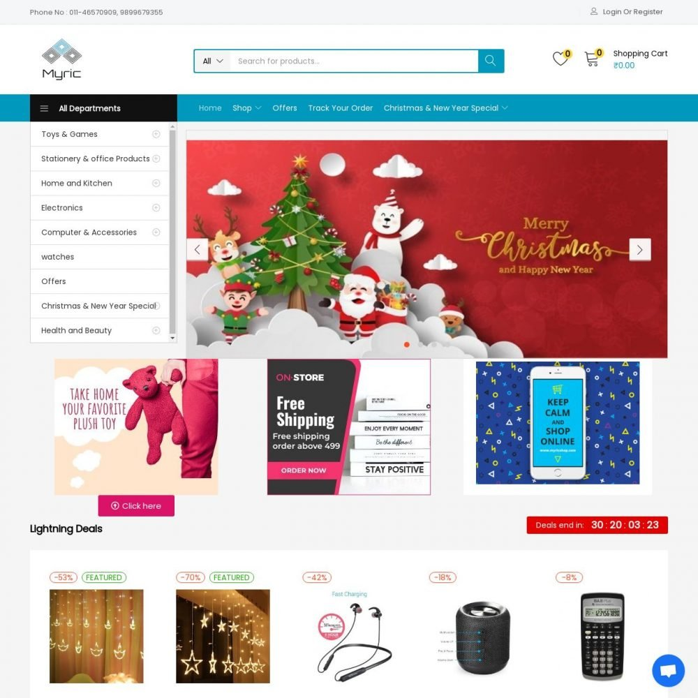 Myricshop | Ecommerce Website Designing in Daryaganj Delhi