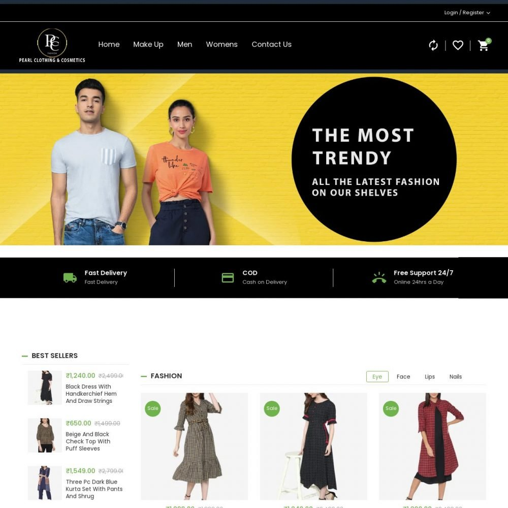 Pearl Clothing| Fashion Website Designing