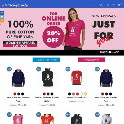 Wacky Souls | Ecommerce Website Designing in South Delhi