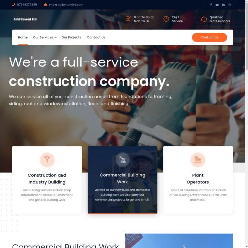 Addumont ltd | Construction Website Designing