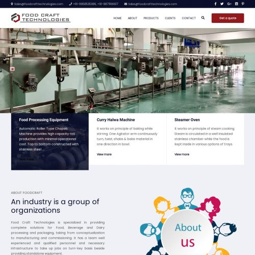 Food Craft Technologies | Industry Manufacturing Website Designing