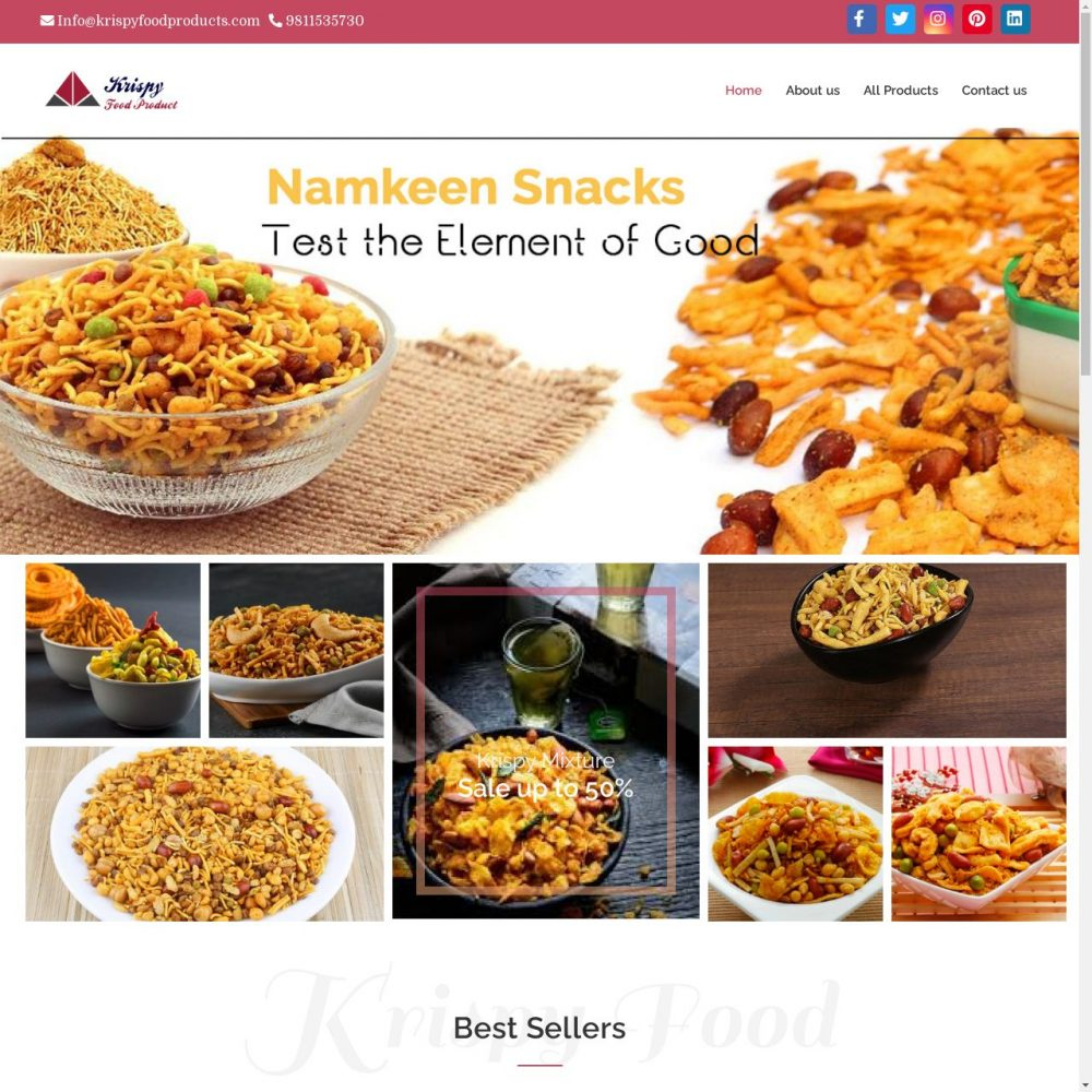 krispyfoodproducts | Food Website Designing