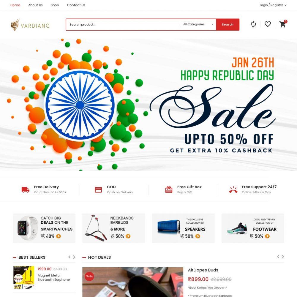 Vardiano| Ecommerce Website Designing in Janakpuri Delhi