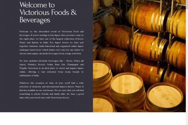Victoriousfnb-Food and Beverage Website Designing in Delhi India.