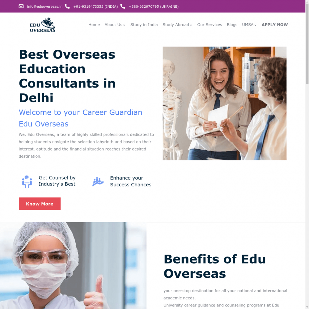 eduoverseas – Immigration Website Designing in Delhi