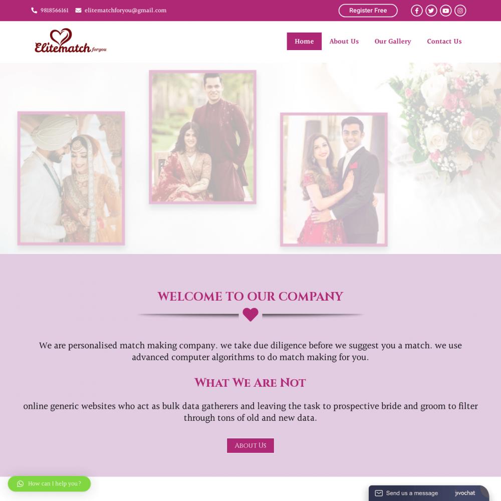Elitematchforyou -Matrimonial Website Designing in Delhi