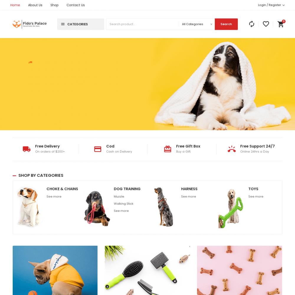fidos Palace- Pet Ecommerce Website Designing in Delhi India.