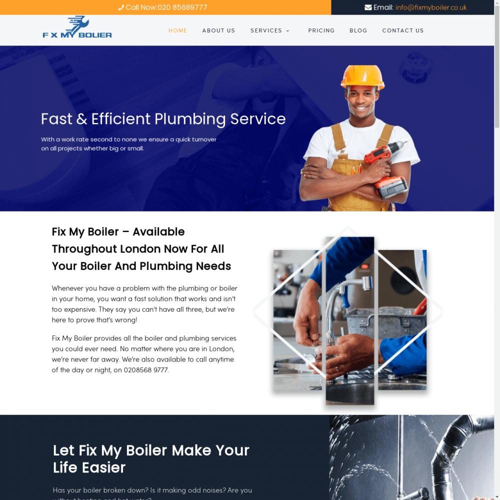 Fix My Boiler -Repair Website Designing in Delhi India.