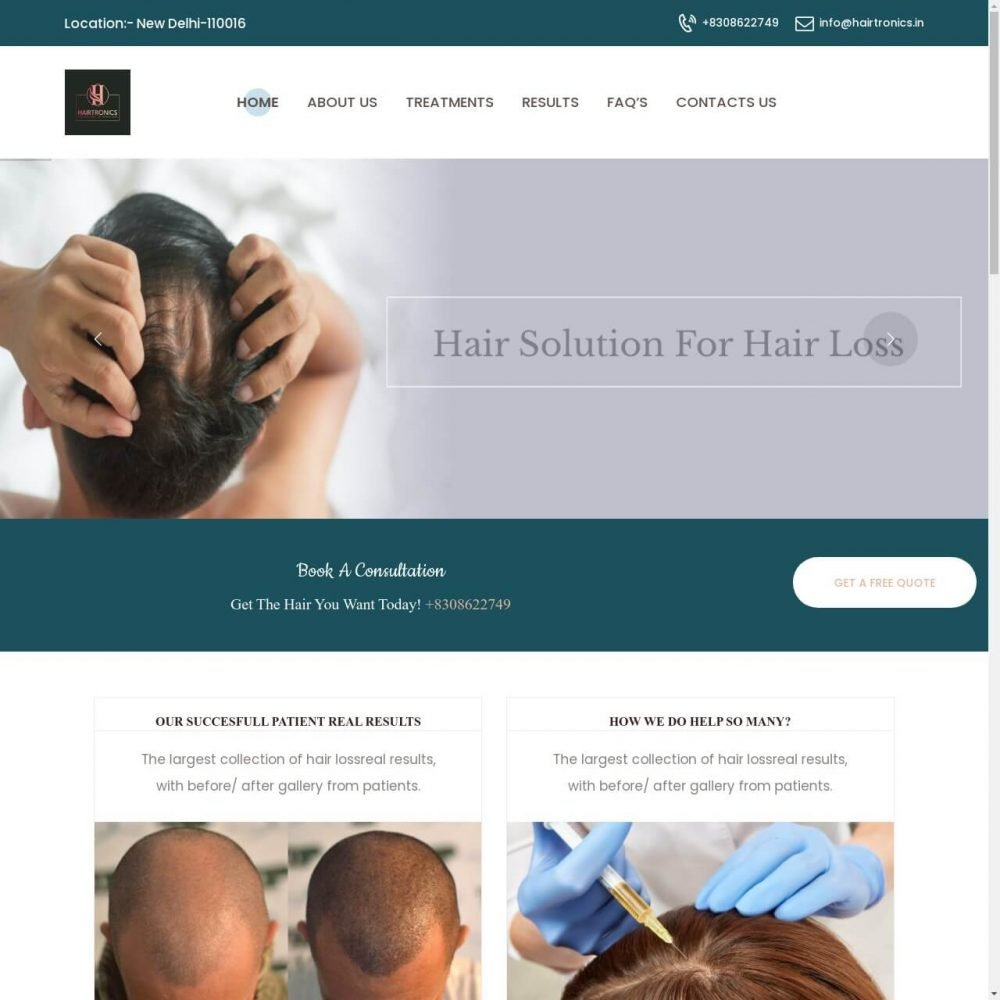 Hair Tonics- Medical Website Designing in Delhi India