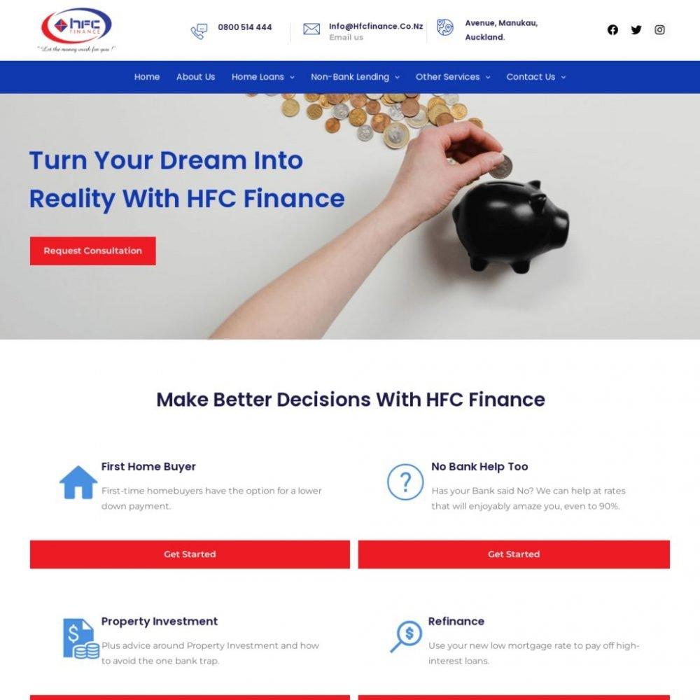 HFC Finance -Financial Website Designing in Delhi India