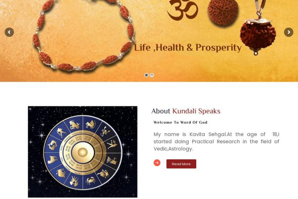 Kundali Speaks -Astrology Website Designing in Delhi India