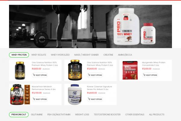 Supplement Adda-Ecommerce Website Designing in Delhi India.