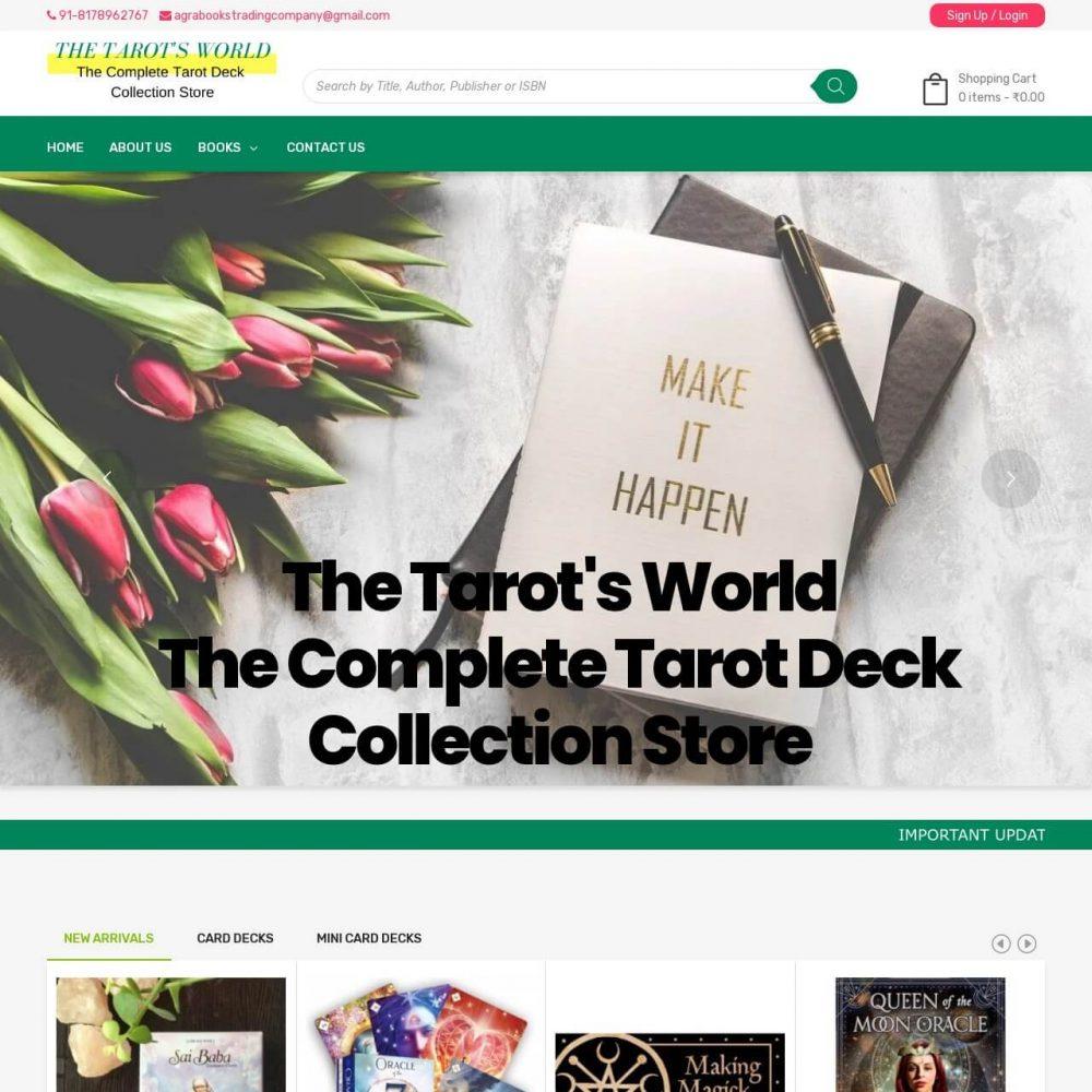The Tarots World-Ecommerce Book Store Website Designing in Delhi India.
