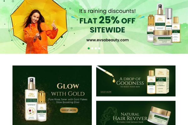 Evsabeauty -Ecommerce Website Designing in Delhi India
