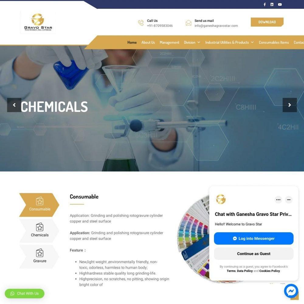 Gravostar- Industry Website Designing in Delhi India