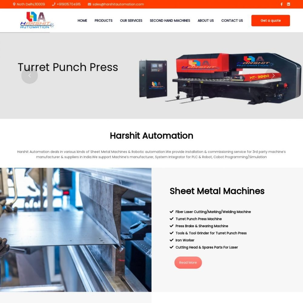 harshitautomation- Industry Website Designing in Delhi India