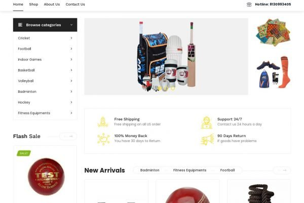 inupinu- Sports Ecommerce Website Designing in Delhi
