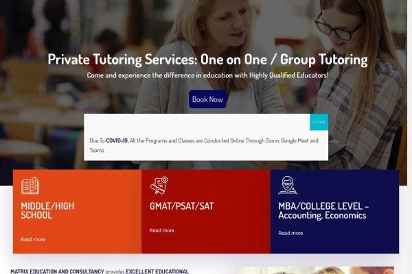 matrixeducation -Education Website Designing in Delhi India.