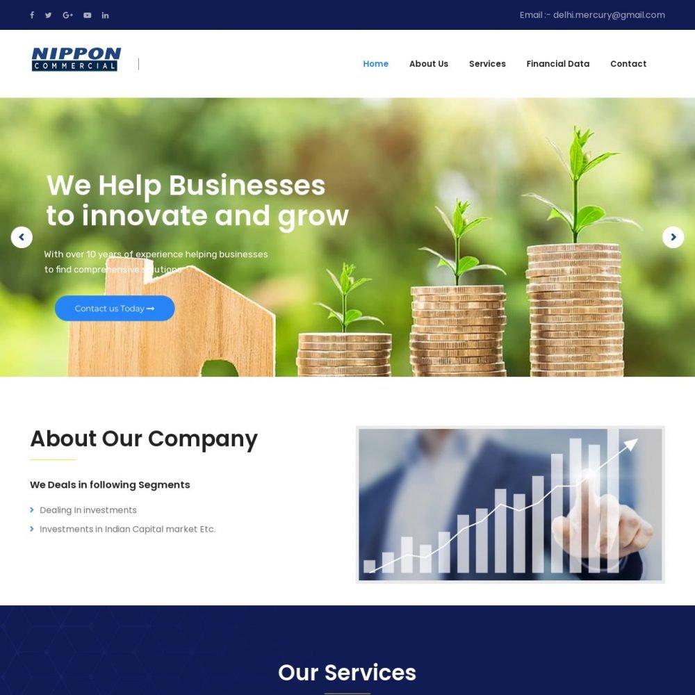 Nippon commercial- Financial Website Designing in Delhi India.