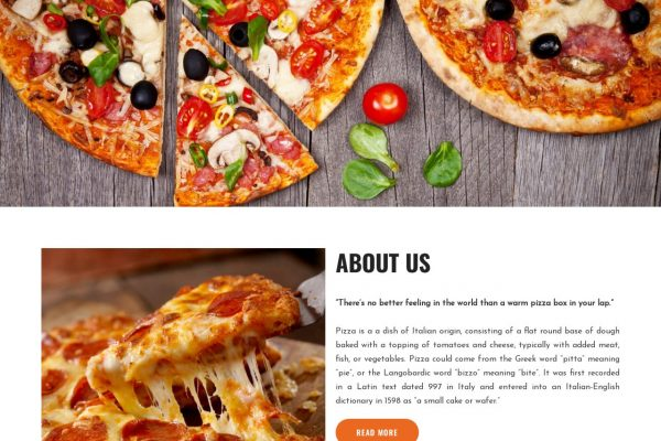 Pizzalane.in- Food Website Designing in Delhi India