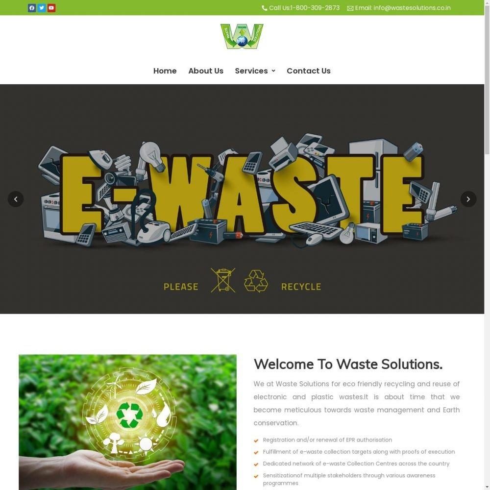 Waste solutions- Small business website design in Delhi